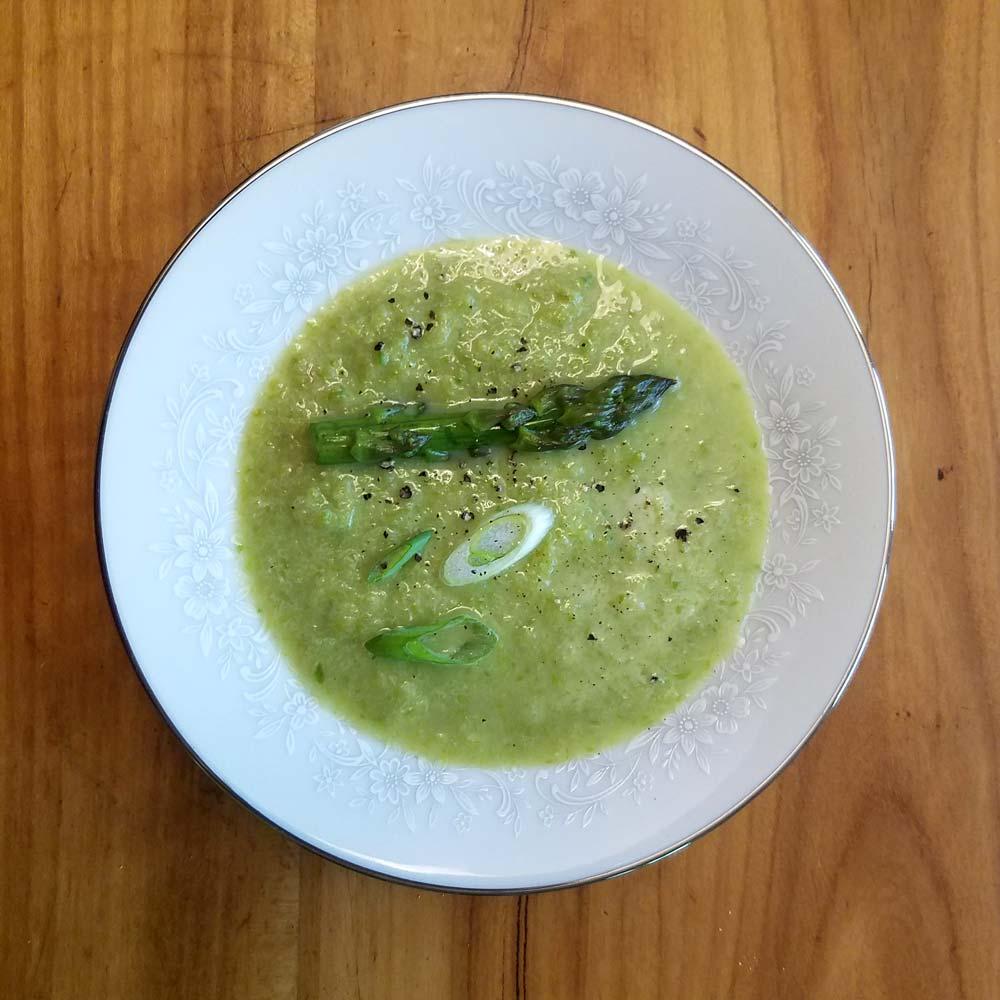 Cilantro Lime Asparagus Soup